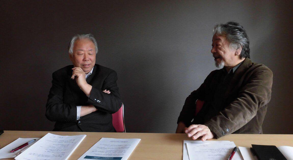 結いのき・花沢2号館会議室にて 左から井上さん、江口さん